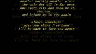 Scorpions-Always Somewhere LYRICS