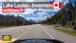 Scenic Drive from Lake Louise to Invermere through the Kootenay & Banff National Park 🇨🇦
