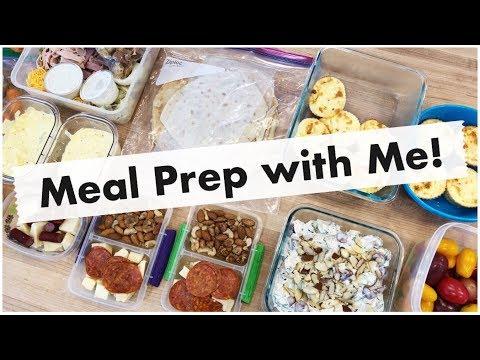 Weekly Meal Prep! Freezer Lasagna, Egg Salad, Chicken Salad, Egg Bites, and Crepes