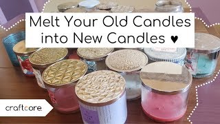 How To Melt Old Candle Wax Into New Candles To REUSE Candle Wax!