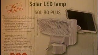 Brennenstuhl Solar LED Strahler Sol 80 Plus mit Bewegungsmelder