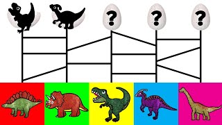 Dinosaurs for Kids, Learn Names and Sounds   Baby T-Rex Baby Find Mom Dinosaur Game Animation