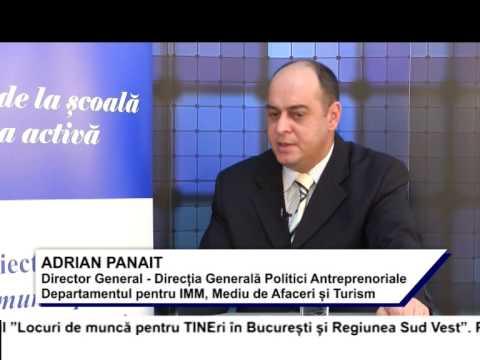 (VIDEO) Locuri de muncă pentru TINEri în București și regiunea Sud Vest – ADRIAN PANAIT (E14)