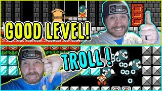 5 Good Mario Maker Levels but 1 is a Troll!