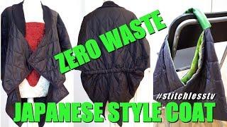 Zero Waste Japanese Style Coat - Sewing Vlog