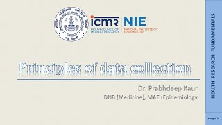 Principles Of Data Collection