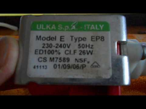 Разборка - сборка помпы ulka E type ER8