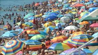Черноморск, пляж Бугово, август 2017
