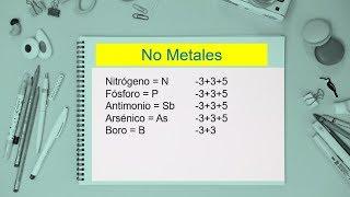 tabla de valencia de los no metales nmeros de oxidacin facil de memorizar