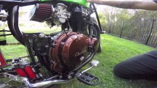 Custom Kawasaki KZ400 Bobber Build