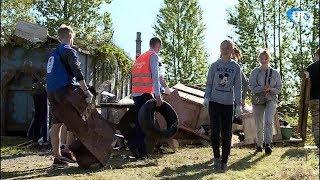 В Великом Новгороде провели масштабный субботник на территории будущего приюта для бездомных животных