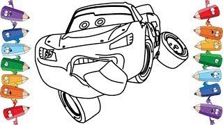 Тачки 3 Молния Маквин Мультик раскраска для детей Cars 3 Lightning McQueen Coloring Book Pages