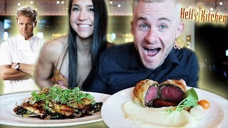 WE ATE AT GORDON RAMSAYS HELLS KITCHEN! ($150 FINE DINING EXPERIENCE)