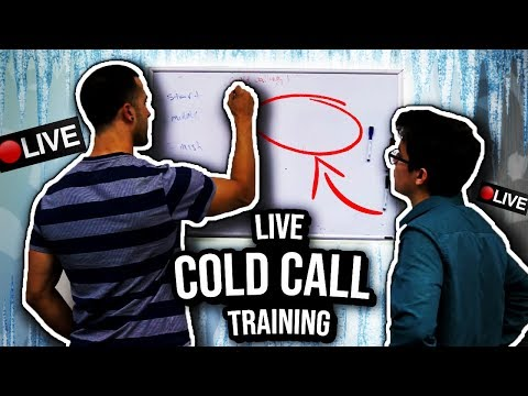 LIVE Cold Calling Training: How To CLOSE Better - YouTube