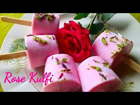 Rose  Kulfi / an Awesome Desert recipe / all time hit preparation #kulfimaking #desert #recipe
