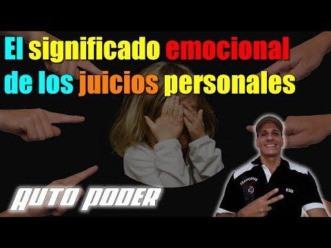 El significado emocional de los juicios personales