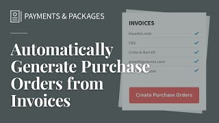 Generate POs from Invoices