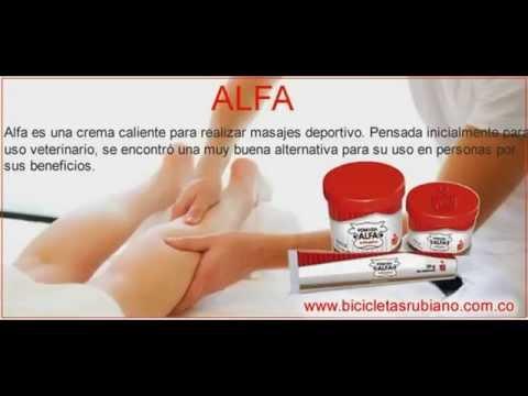 Distribuidor Alfa crema caliente para masaje deportivo y relajación - Alfa | Bicicletas Rubiano