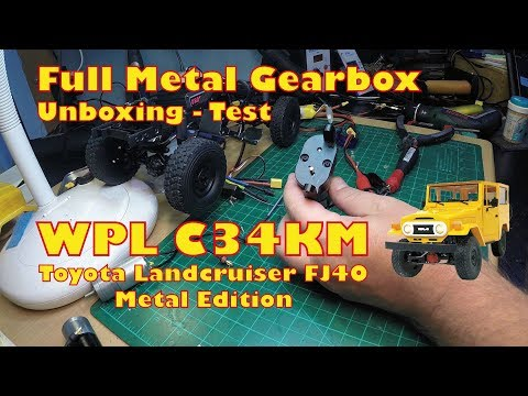 WPL C34 full metal gearbox unboxing and test