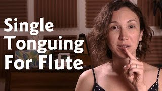 Single Tonguing For Flute