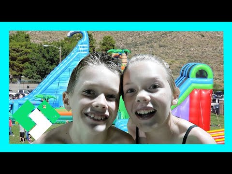 CRAZY GIANT WATER SLIDE (Day 1638) | Clintus.tv