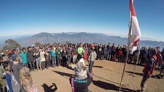 Upacara Bendera di Puncak Gunung Cikuray 17 Agustus 2015 GoPro