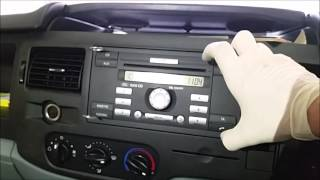How To Remove A  Ford Transit Van Stereo
