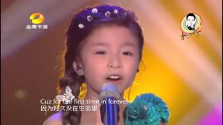 """""""For the first time in forever"""" (Frozen) Cover by 6 year old Celine Tam"""