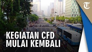Suasana Kegiatan CFD di Kawasan Jalan MH Thamrin, Jakarta Pusat