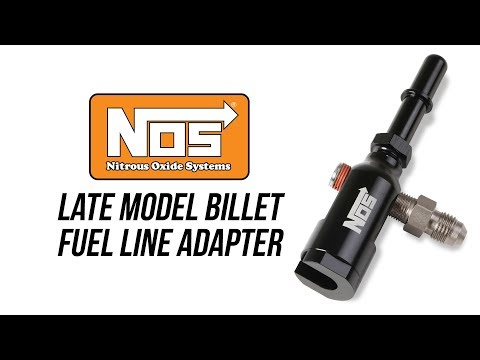 NOS Late Model Billet Fuel Line Adapter