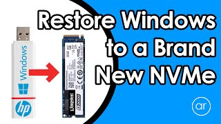 Upgrade to an M.2 NVMe SSD and Restore Windows 10 (without Cloning)