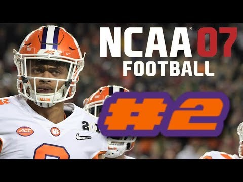 NCAA Football 07 PS2 Gameplay 2019 Clemson Tigers Ep.2 (Defensive Game vs Boston College)