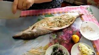 Фаршированная Щука В Духовке Очень Вкусный Рецепт / Lucio En El Horno-Receta Sabrosa