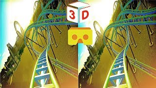 3D Roller Coaster NII VR Videos 3D SBS [Google Cardboard VR Experience] VR Box Virtual Reality Video