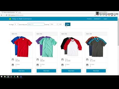 Ruby on Rails E-commerce by Carlo Fontanos (Demo)