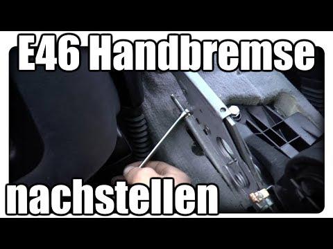 E46 Handbremse nachstellen / Handbremse geht nicht / Handbremse einstellen Tutorial Deutsch