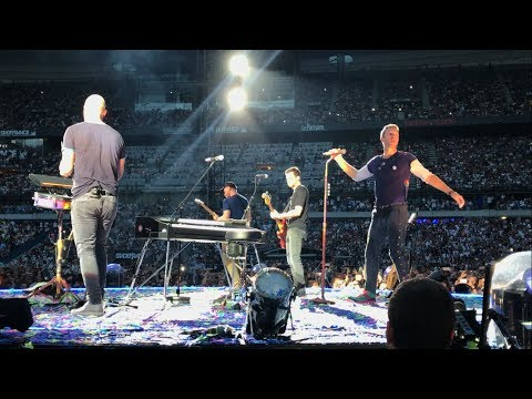 COLDPLAY ALWAYS IN MY HEAD UP CLOSE AT STADE DE FRANCE PARIS 16/07/17