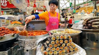 Gambar cover KOREAN STREET FOOD - Gwangjang Market Street Food Tour in Seoul South Korea | BEST Spicy Korean Food