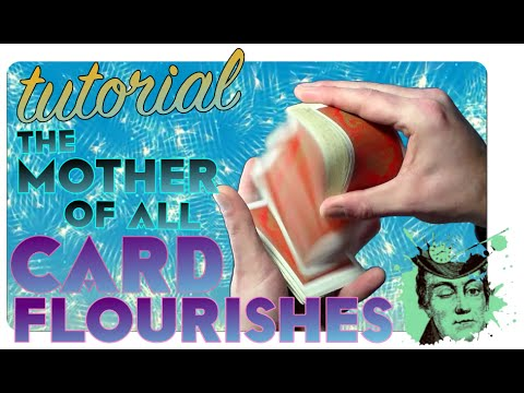THE SPRING classic card flourish magic trick tutorial