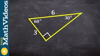 Determine The Missing Long Leg And Short Leg Of A 30 60 60 Triangle