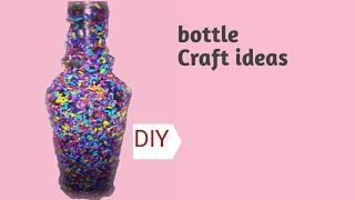 Bottle Craft /Bottle Design/Kuppi Art In Malayalam/DIY/creative Art Work