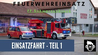 preview picture of video 'Freiwillige Feuerwehr Schwarzenbruck Übungseinsatz OBI Brand'