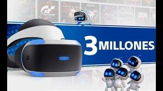 PLAYSTATION 4  PS VR 3 MILLONES Y 21 MILLONES DE JUEGOS   ATAQUE SIN SENTIDO A PS4