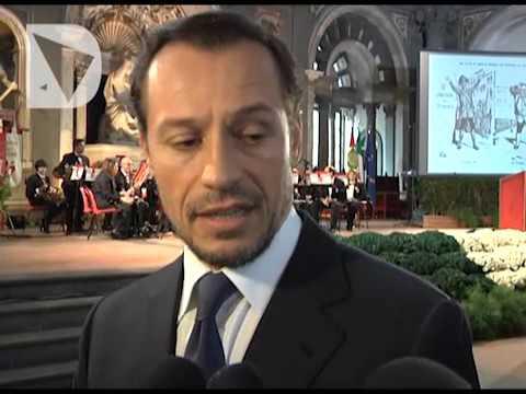 L'attore era a Firenze per le celebrazione dei 150 di Firenze Capitale.