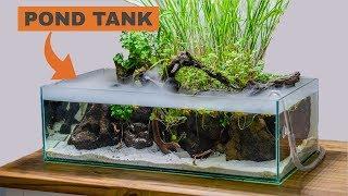 Building an indoor pond aquarium: TIMELAPSE