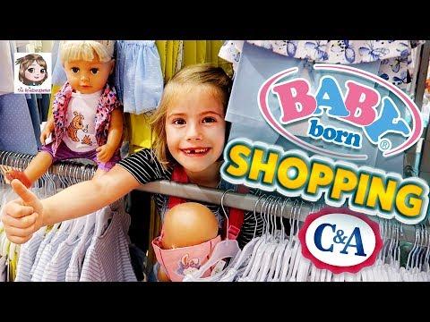 BABY BORN SHOPPING IM C&A 👗 Hannahs Puppen brauchen neue Kleidung 👗 6-Jährige kauft ein!