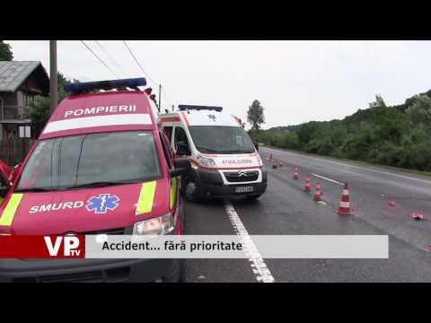 Accident… fără prioritate