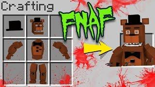 Minecraft FNAF - How to Craft Freddy Fazbear! (FIVE NIGHTS AT FREDDY'S)