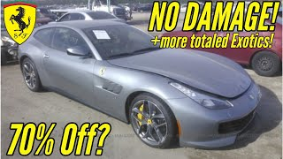 IAA: Cheapest Supercars at Salvage Auction! Ft. Flood Damaged Ferrari and Wrecked Nissan GTR!