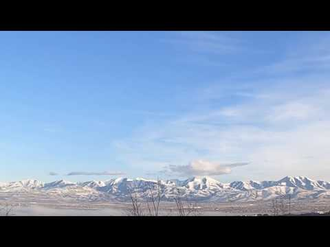Grim rubbing the ground in Sandy Utah Valley time-lapse